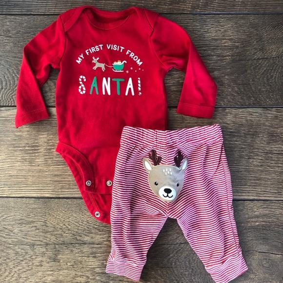 Carter's Other - Carters Christmas Reindeer Onesie Set
